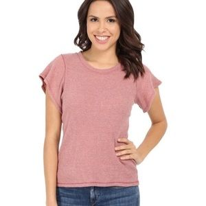 Free People Short Flutter Sleeve Thermal T-shirt